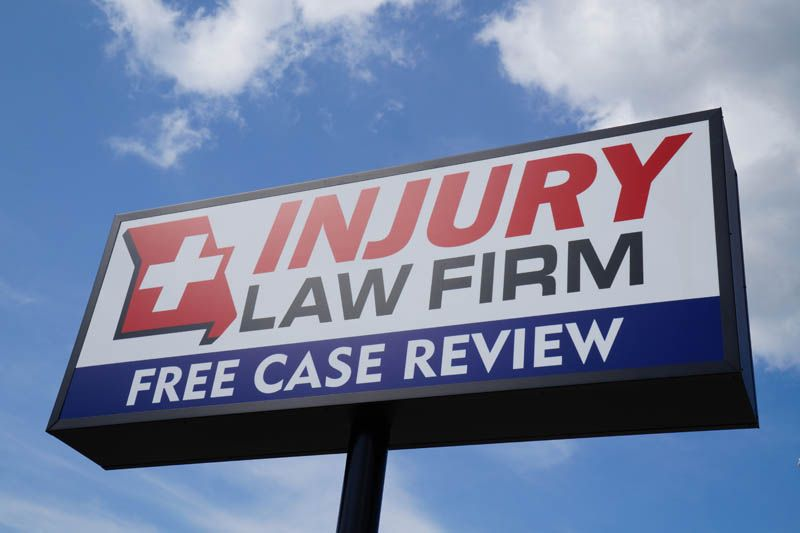 Missouri Injury Law Sign